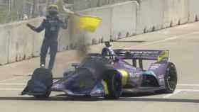 Grosjean vuelve a vivir un incendio en su coche, esta vez en la IndyCar