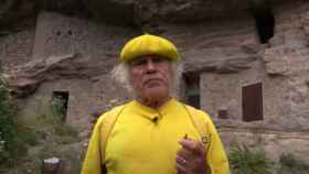 Fernando Báez Santana, conocido como el 'padre Báez', en una aparición en televisión.