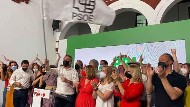 Juan Espadas tras ganar las primarias del PSOE andaluz.