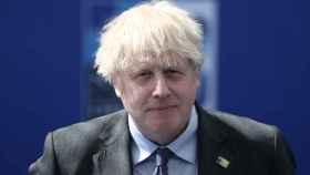Boris Johnson en la cumbre de la OTAN.