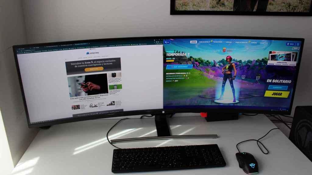 El monitor de Millenium con la doble pantalla activada.