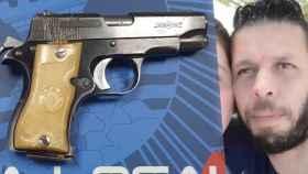 El arma que usó Carlos para tirotear a Younes.