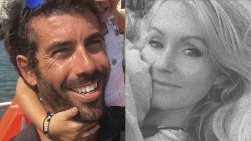 Tomás Gimeno y su expareja y madre de sus hijas, Beatriz Zimmermann.