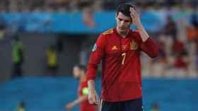 Imagen del partido España-Suecia emitido en Mediaset.