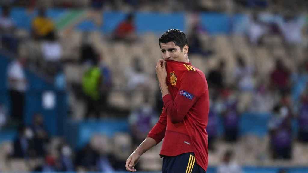 Morata, tras el partido contra Suecia