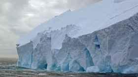 Frente de hielo en la Antártida.