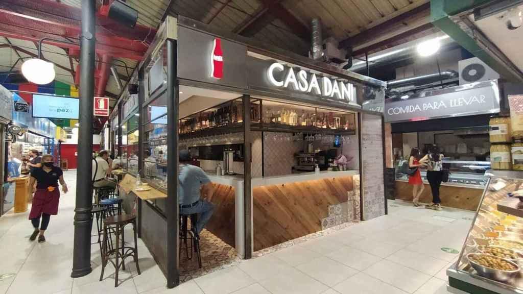 Uno de los locales de Casa Dani situados en el madrileño Mercado de La Paz.