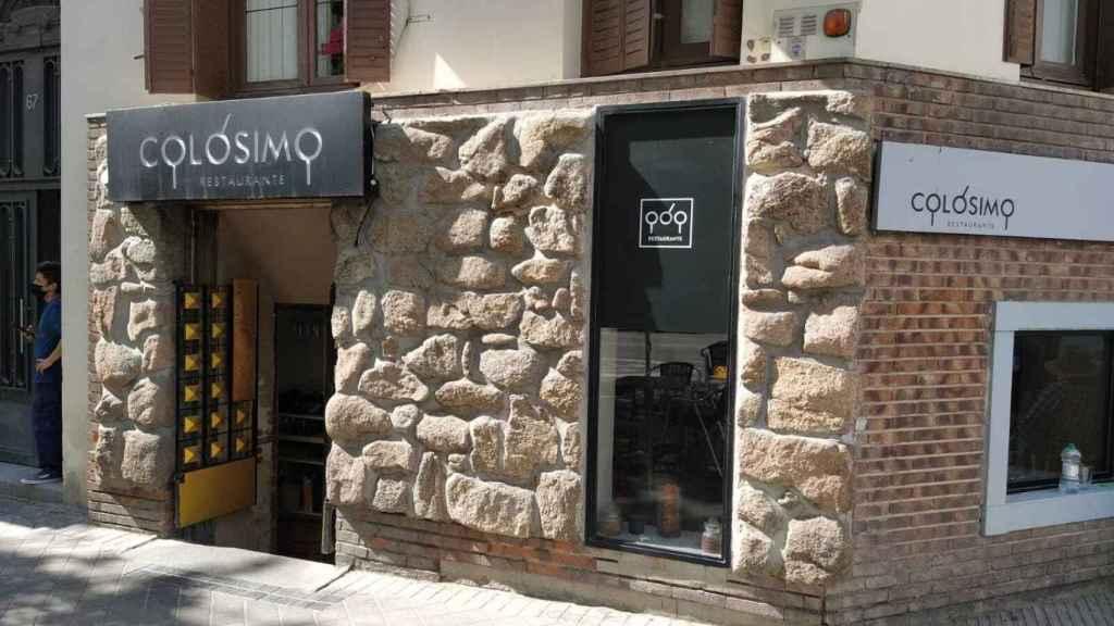 El restaurante Colósimo, situado en el número 67 de la calle de José Ortega y Gasset.