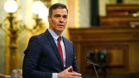 El presidente del Gobierno, Pedro Sánchez, en el Congreso de los Diputados. Efe