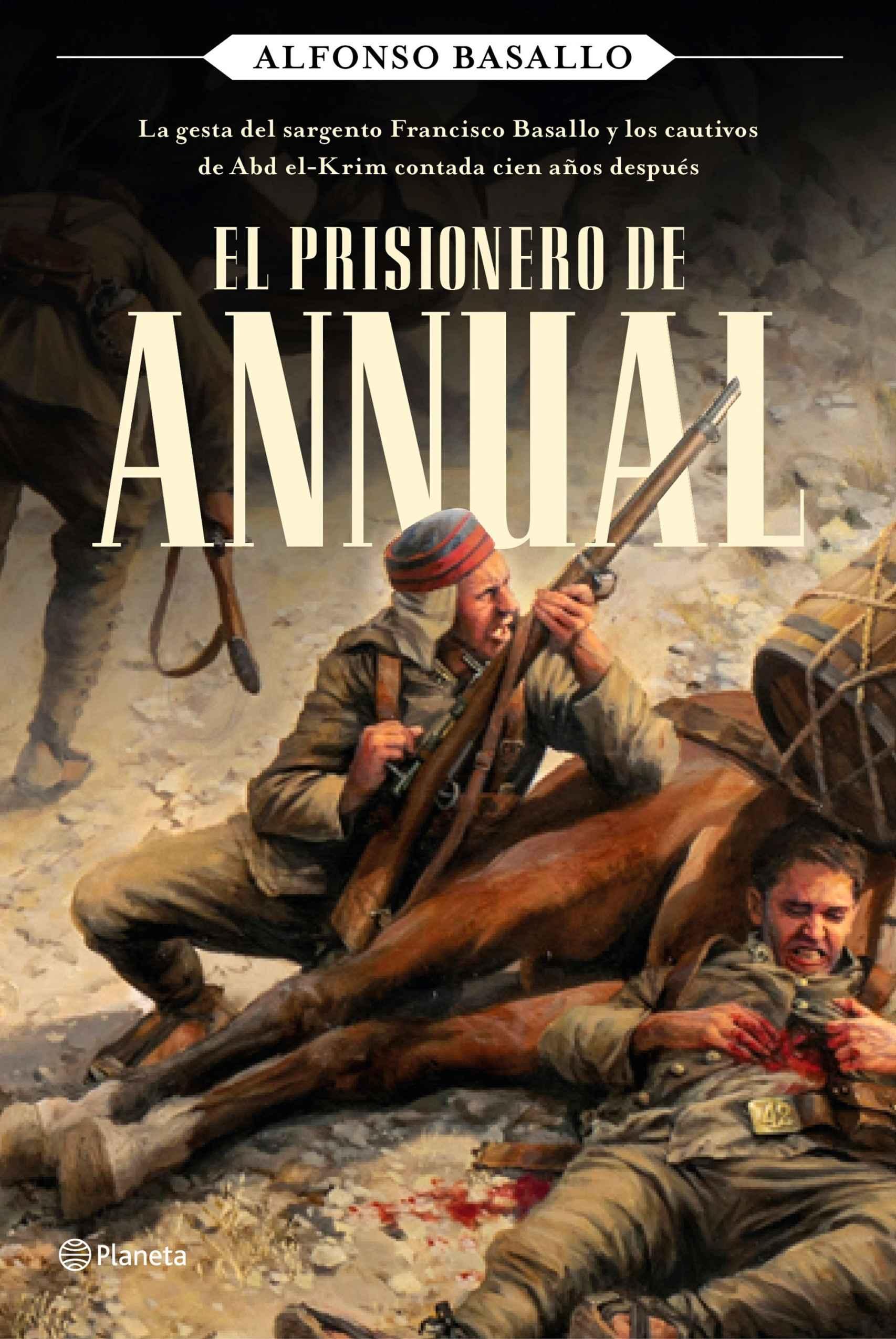 Portada de 'El prisionero de Annual', con ilustración de Ferrer-Dalmau.