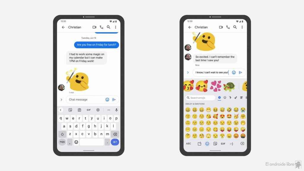 Sugerencias de emojis con Emoji Kitchen en Gboard