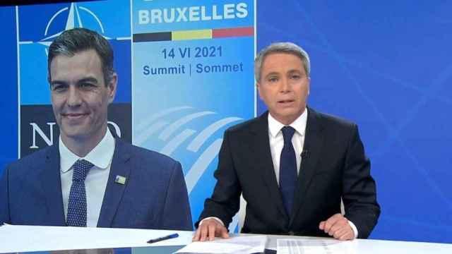 Vicente Vallés ha lanzado un dardo a Pedro Sánchez en 'Antena 3 Noticias'.