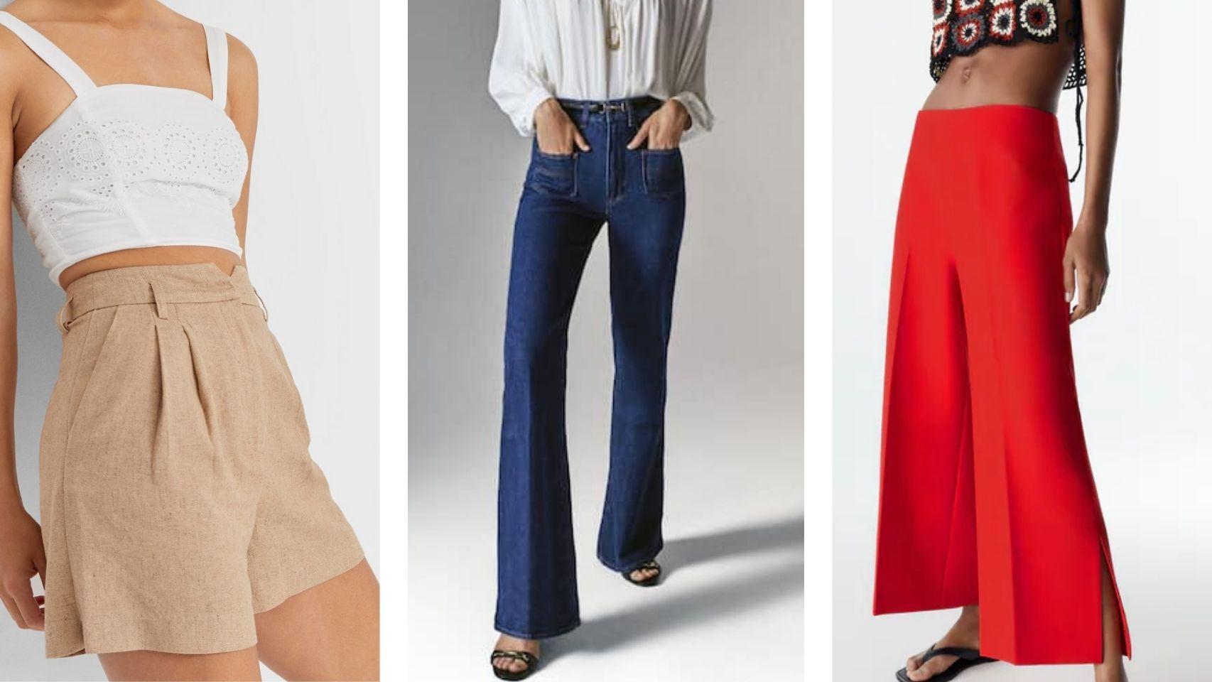 De tiro muy alto y cortes rectos: los  'jeans' que mejor sientan a las chicas bajitas.