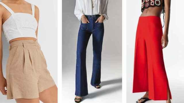 De tiro muy alto y cortes rectos: los  'jeans' que mejor sientan