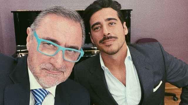 Carlos Herrera junto a su hijo Alberto en una imagen de sus redes sociales.