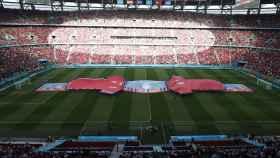 Las gradas del Puskas Arena, las primeras en recibir el 100% de aforo durante la Eurocopa