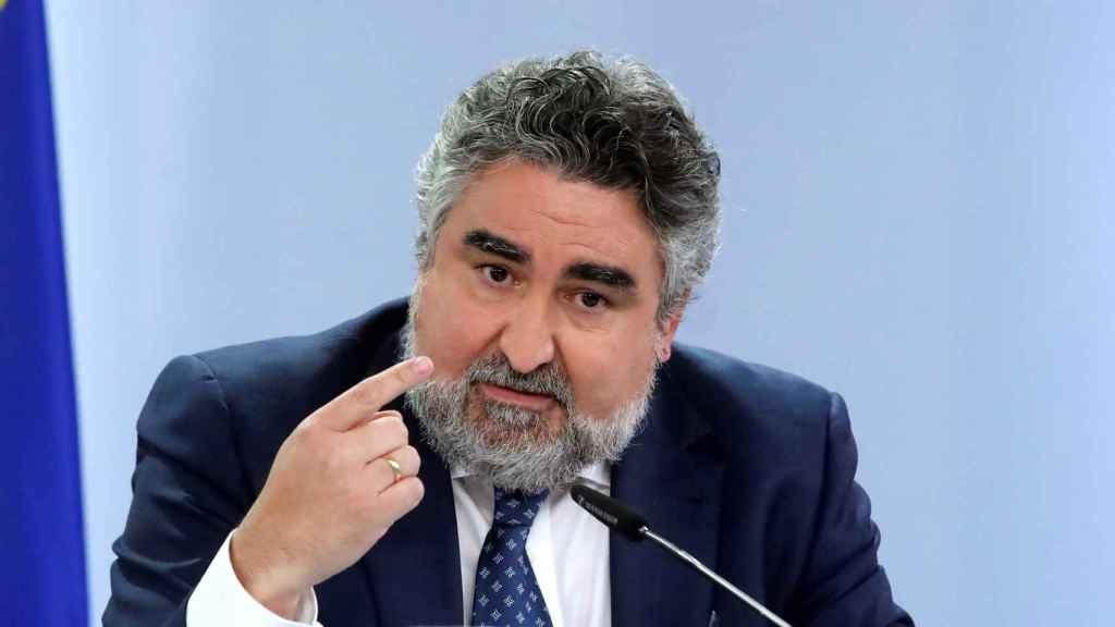 José Manuel Rodríguez Uribes, tras la reunión del Consejo de Ministros