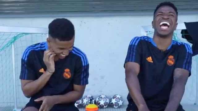 Vinicius y Rodrygo, en un vídeo del Real Madrid