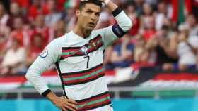Cristiano Ronaldo, en un partido de la selección de Portugal en la Eurocopa 2020