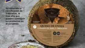 """al queso de oveja curado en miel y orégano """"Villarejo"""""""