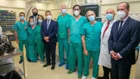 Visita oficial este lunes del presidente de Castilla-La Mancha, Emiliano García-Page, y el consejero de Sanidad, Jesús Fernández Sanz, al Hospital de Guadalajara
