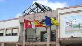 Fachada del ayuntamiento de Membrilla (Ciudad Real)