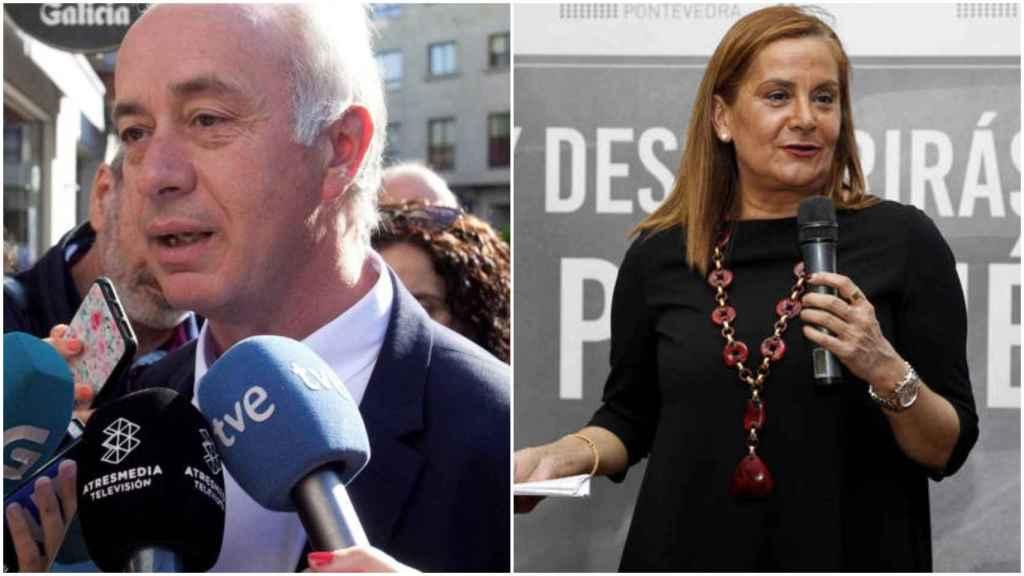 El alcalde de Vilanova de Arousa, Gonzalo Durán, y la presienta de la Diputación de Pontevedra, Carmela Silva.