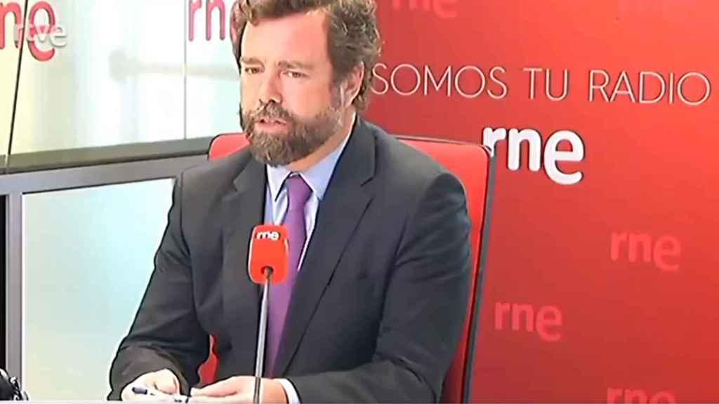 El portavoz en el Congreso de Vox, Iván Espinosa de los Monteros, este martes en RNE.