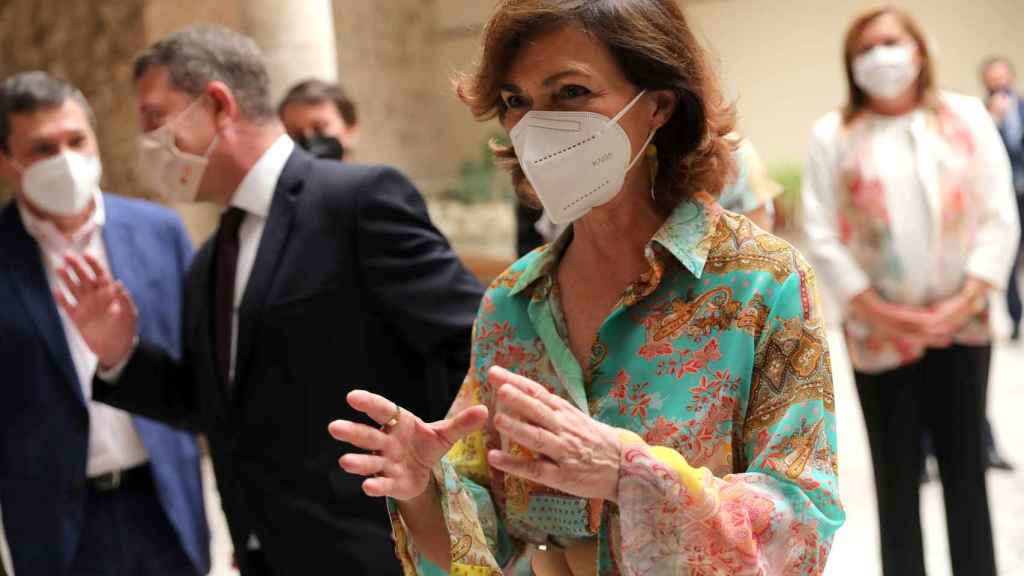 La vicepresidenta primera del Gobierno, Carmen Calvo. EP