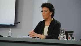 Isabel Celaá, ministra de Educación y Formación Profesional, durante la rueda de prensa del Consejo de Ministros.