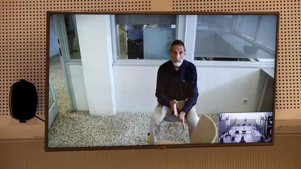 John McAfee, durante la videoconferencia en la que intervino ante la Audiencia Nacional.