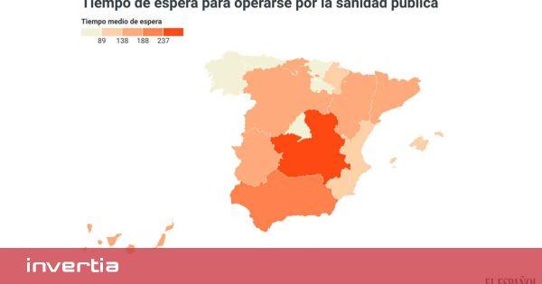 La espera para operarse por la sanidad pública varía hasta 226 días: de los 286 de Castilla-La Mancha a los 60 de Asturias