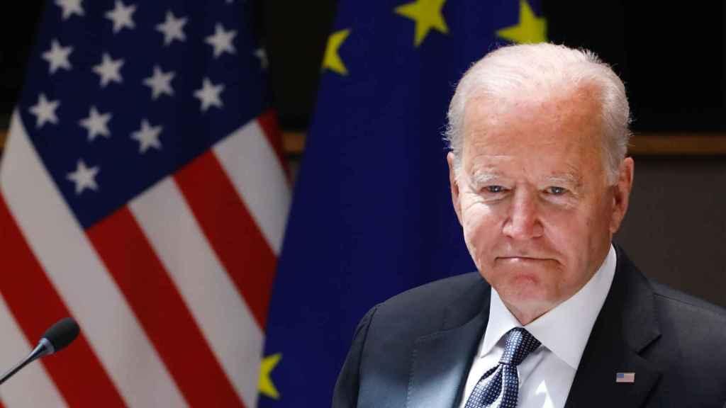 El presidente de Estados Unidos, Joe Biden, durante la reciente cumbre con la UE en Bruselas