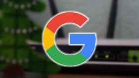 Un router WiFi y el logo de Google.