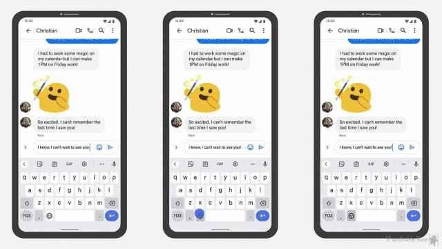 Emojis bajo contexto en Gboard