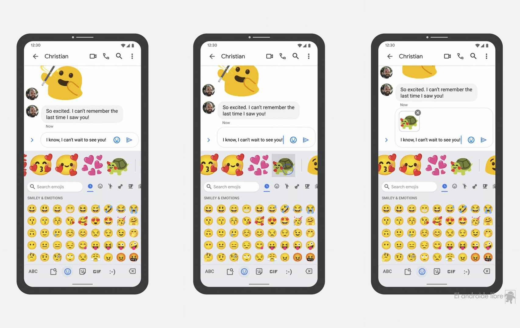 Los blobmojis en emoji kitchen en Gboard