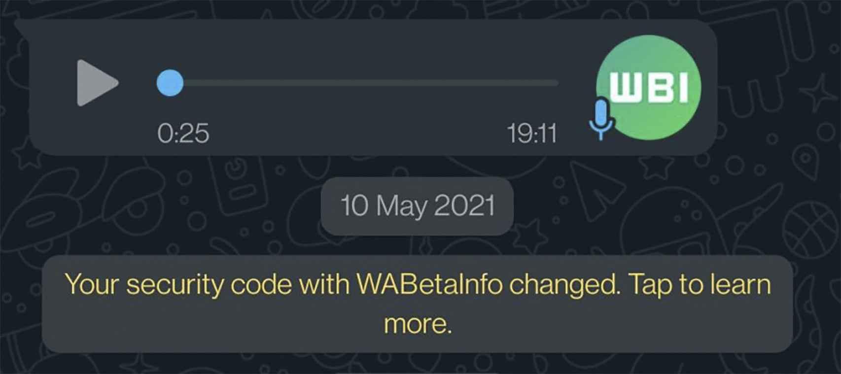 Burbujas de chat con esquinas redondeadas en WhatsApp