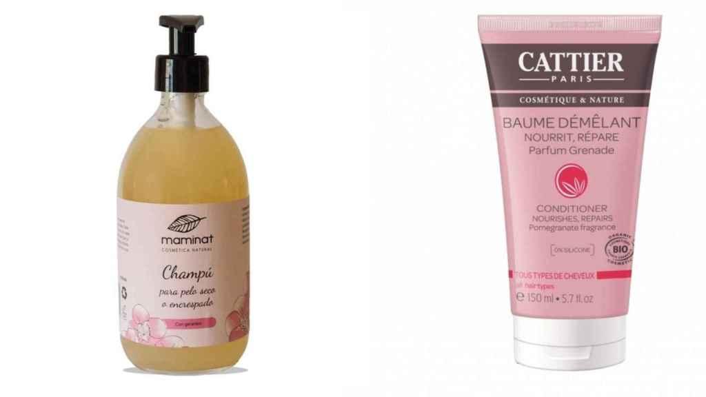 La firma de Maminat y Cattier poseen ingredientes naturales necesarios para el cuidado del cabello.