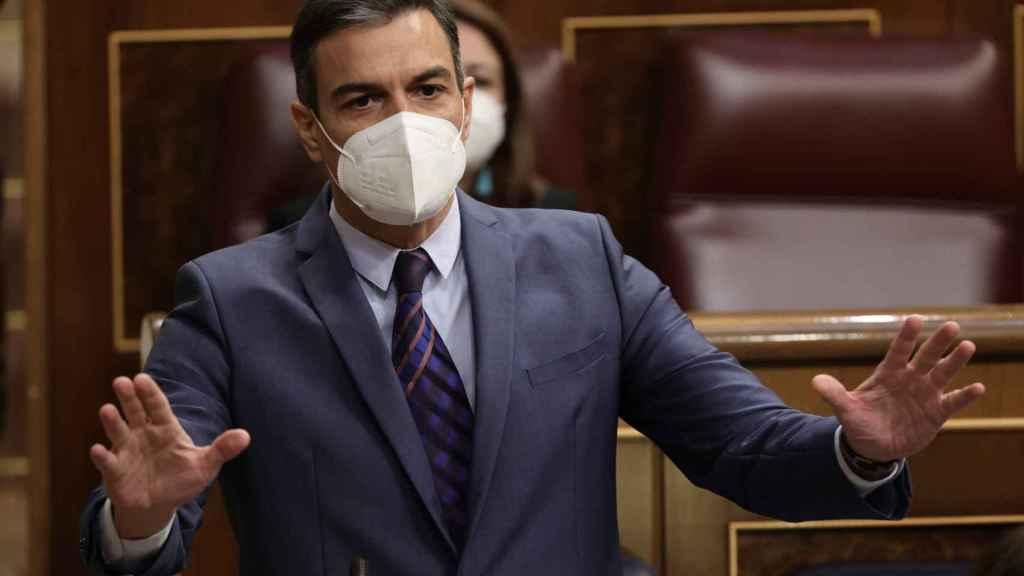 El presidente del Gobierno, Pedro Sánchez, este miércoles en el Congreso. Efe