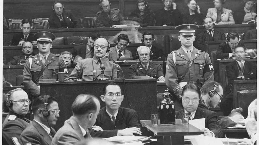 Tojo durante los 'juicios de Tokio'