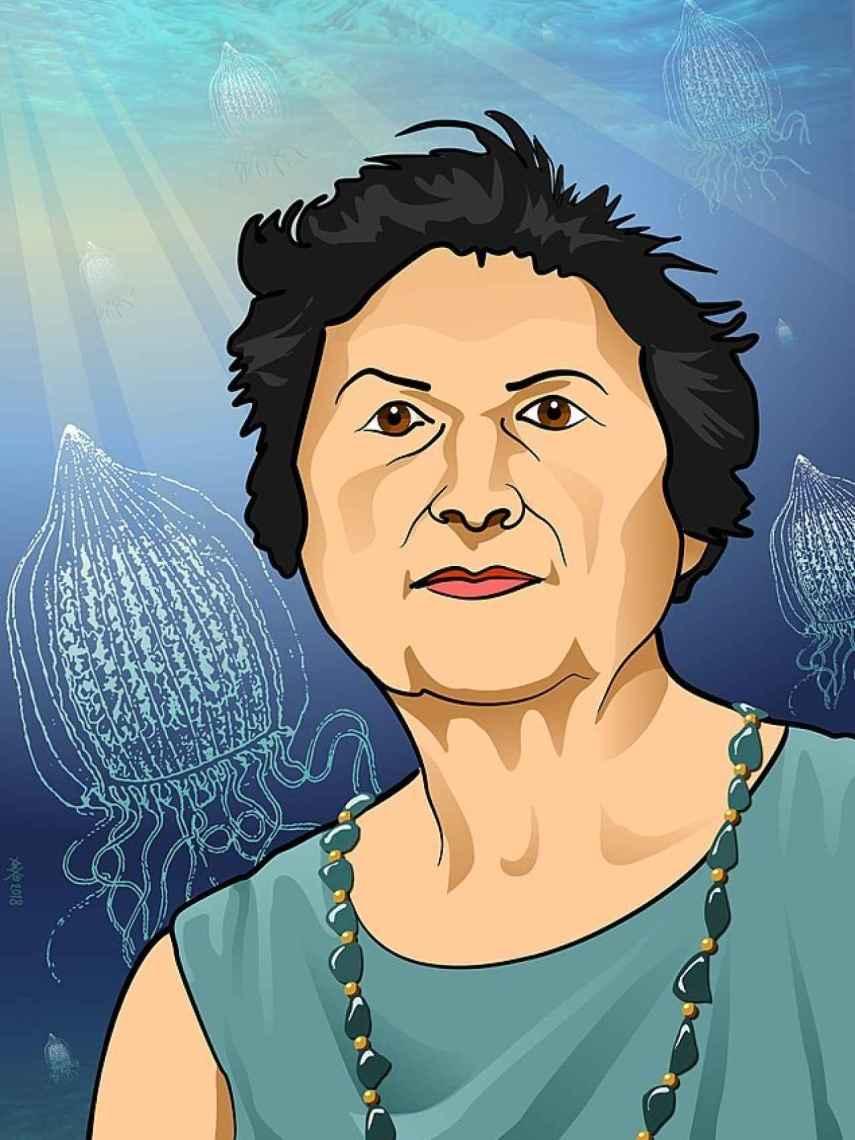 Retrato de Ángeles Alvariño.