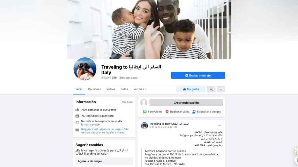 La cuenta de Facebook vinculada a una red de tráfico ilegal de inmigrantes que opera entre Libia e Italia.