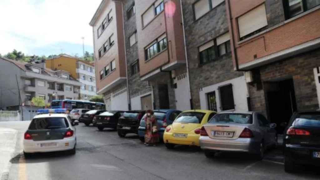 La calle Puerto de Tarna, en Pola de Laviana, donde murió María Teresa Aladro.