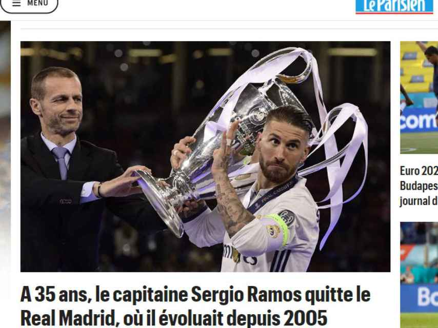 Le Parisien y su noticia de Sergio Ramos