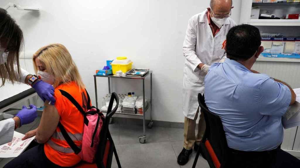 Imágenes de vacunación en la Comunidad Valenciana.