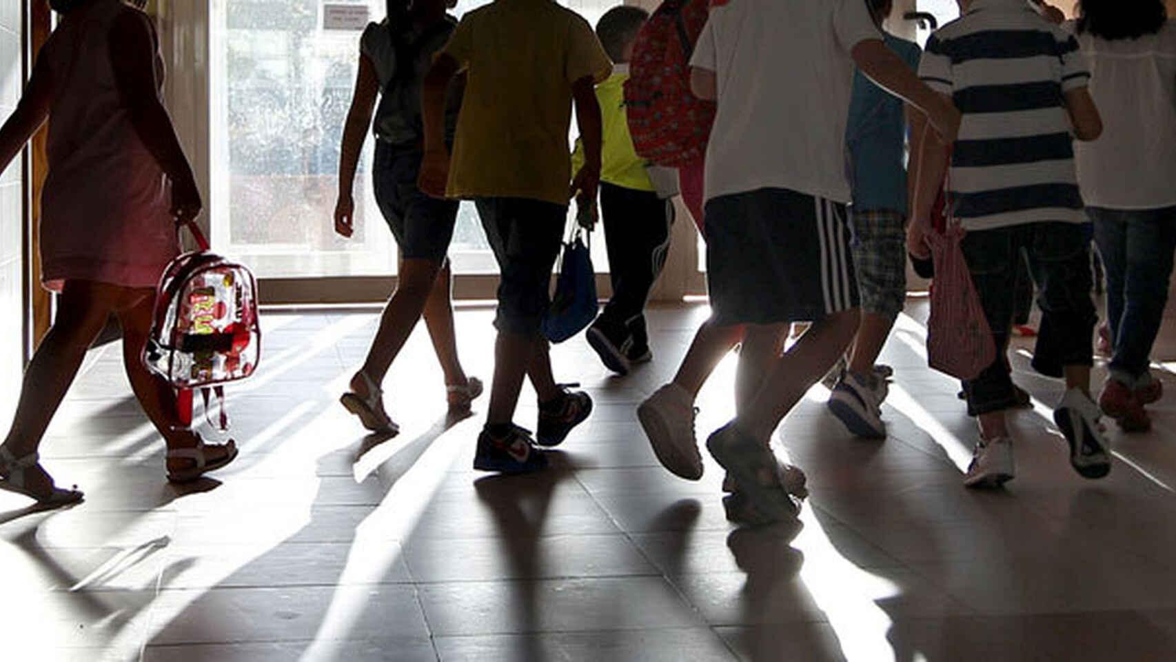 Niños en un colegio, en imagen de archivo.