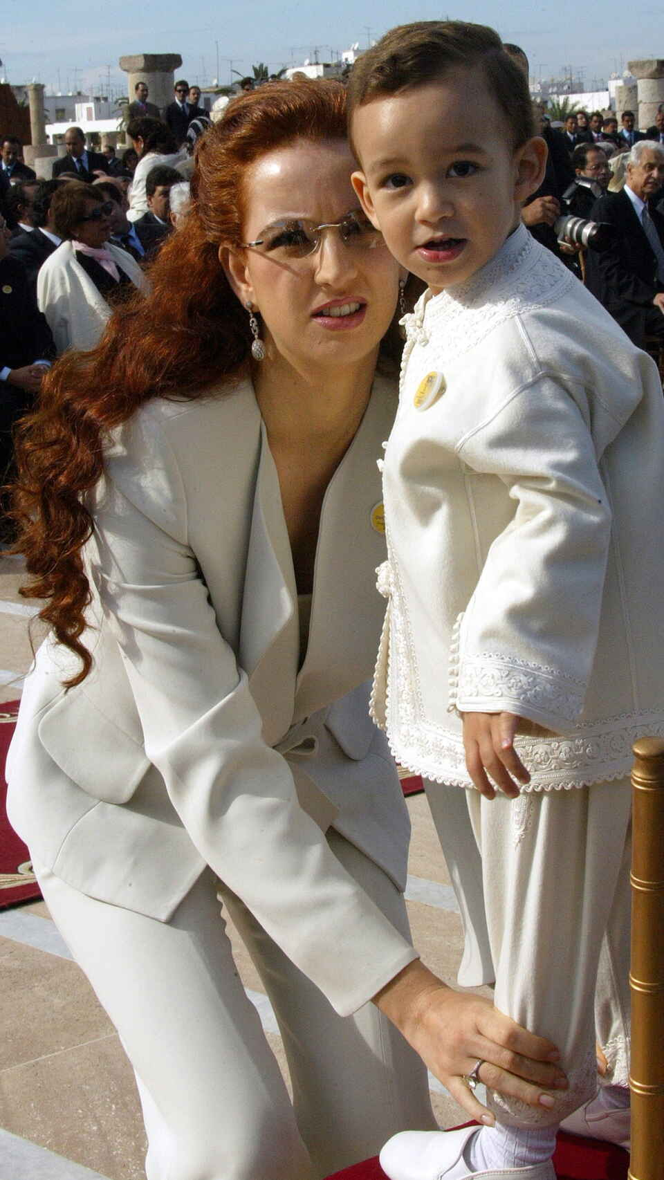 Moulay Hassan y su madre, Lalla Salma, en una imagen de archivo.