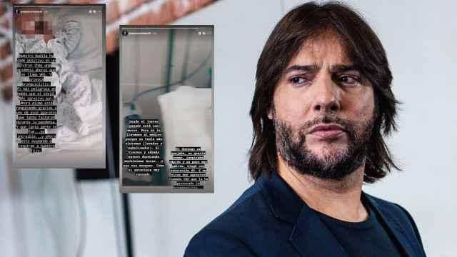 Joaquín Cortés en montaje de JALEOS junto a los dos 'stories' que ha hecho públicos.