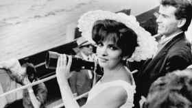 La actriz italiana Gina Lollobrigida en Las Ventas, 1966.