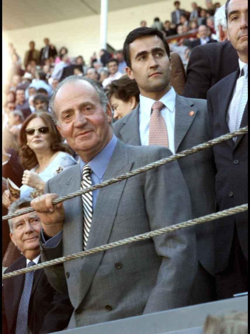 El rey Juan Carlos, en una imagen captada en Las Ventas en 2002.